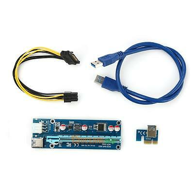 60cm USB 3.0 PCI-E Express 1x to16x Extender Riser Card Adapter 6PIN Power Cable