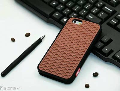 Silicone Rubber Case Waffle Cookie Shoe Case Cover for iPhone 4/4s 5/5s 6/6 plus