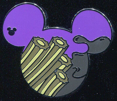 DLR 2015 Hidden Mickey Food Churros Disney Pin 108538