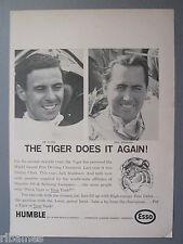 R&L Ex-Mag Advert: Jim Clark, Jack Brabham, Esso Petrol, World Grand Prix Race