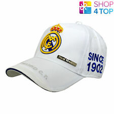 REAL MADRID WHITE BASEBALL CAP HAT OFFICIAL FOOTBALL CLUB SOCCER TEAM LICENSED