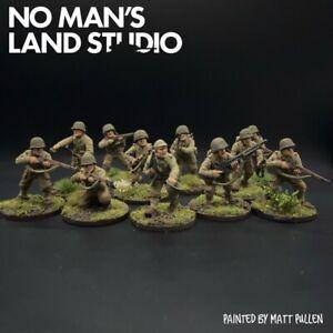 PRO PAINTED 28mm WW2 Squadra di Fanteria USA - 28mm 1/56 - BULLONI Azione