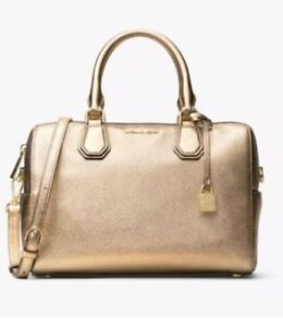 093ff4f03c86b New MICHAEL KORS MD Mercer studio collection leather Mk DUFFLE Pale ...