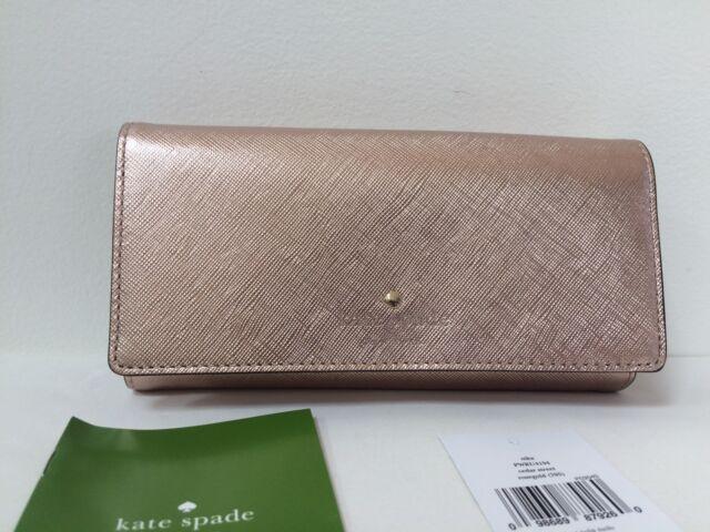 b086833b43b NWT kate spade new york Cedar Street Nika Trifold Wallet Rosegold Rose Gold  New