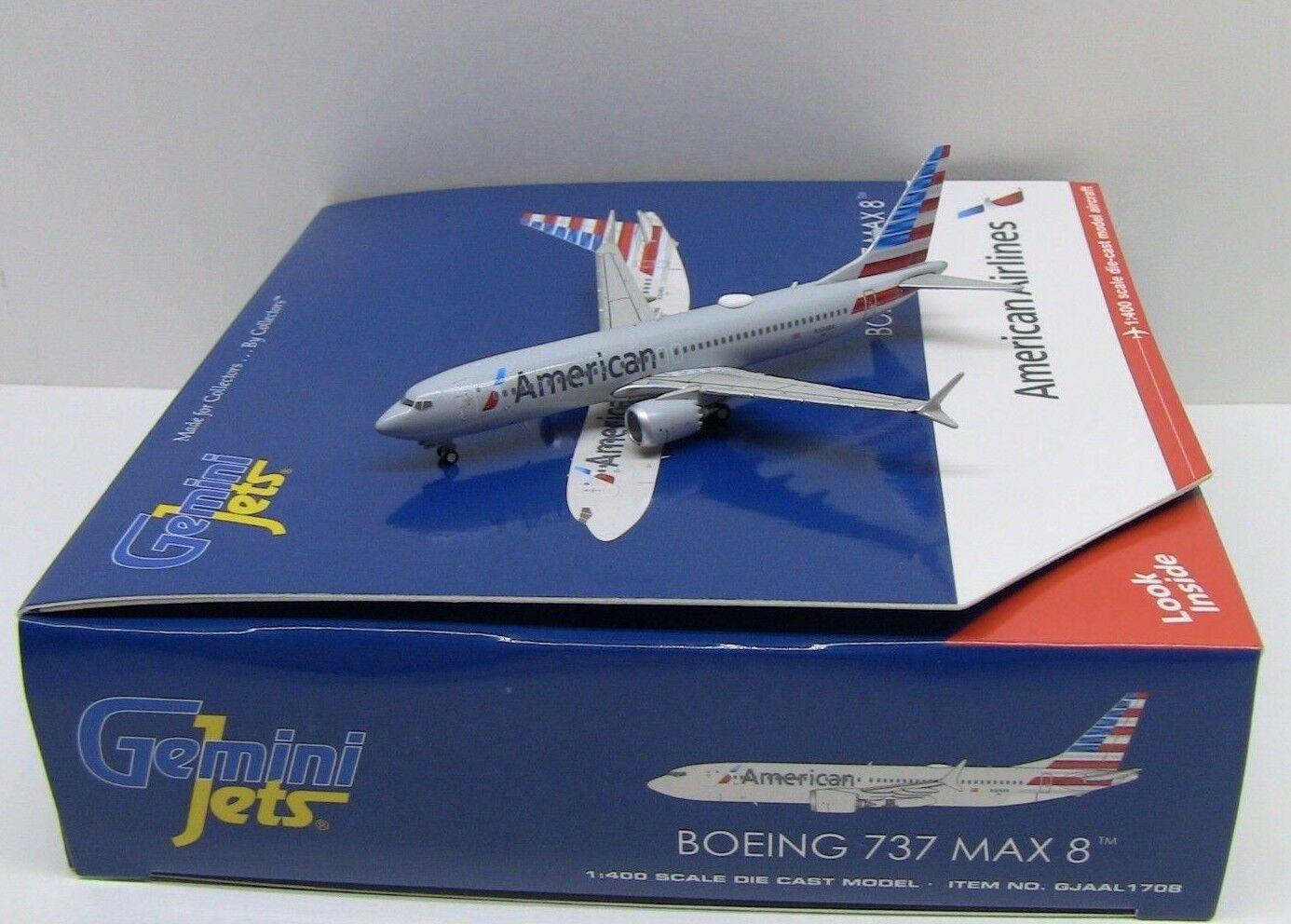 Gemini Jets American Airlines Boeing 737 MAX 8 1 400 GJAAL1708