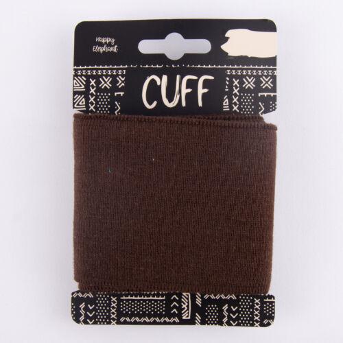 Cuff pretina listo pretina monocromática marrón oscuro 7x110cm