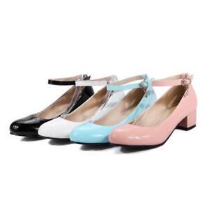 Mary Jane Lolita Pumps Shoes Plus Size