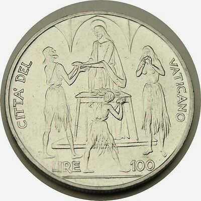 elf Vatican City 2 Lire 1968 FAO Pope Paul VI  Feeding of the 5,000