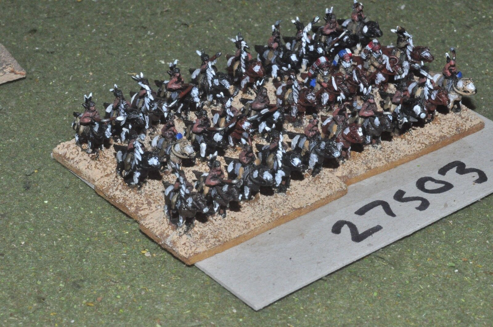 10mm ACW   indian - warriors 30 figures - cav (27503)