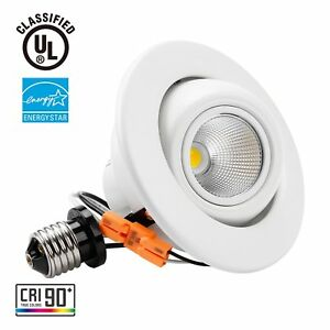 10w 4inch dimmable gimbal directional retrofit led recessed lighting