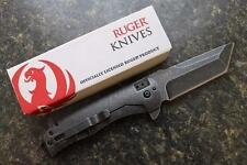 CRKT RUGER Carter 2-Stage R2103K Flipper Folding Knife Stonewash 8Cr13MoV Tanto