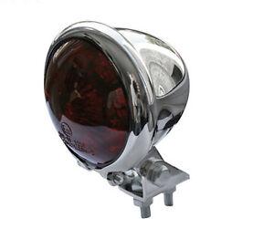 retro led r cklicht bremslicht rund chrom f r chopper. Black Bedroom Furniture Sets. Home Design Ideas