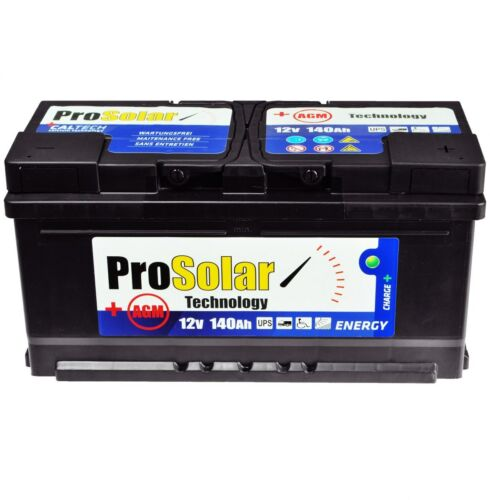 AGM 140 Ah Solarbatterie USV 12V ProSolar Wartungsfrei Statt 110Ah 100Ah GEL