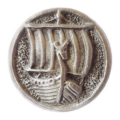Viking Warrior Pin Badge Made in Polished English Pewter