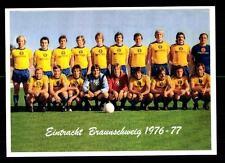 Eintracht Braunschweig Mannschaftskarte 1976-77 TOP