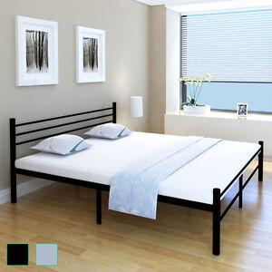 schlafzimmerbett einzelbett doppelbett metall bettgestell lattenrost 90 180 cm ebay. Black Bedroom Furniture Sets. Home Design Ideas
