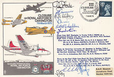 Rare C37d Closure of RAF Oakington.Signed 3 Full crews (11) added cachet.