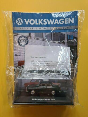 DeAgostini  Volkswagen  Nr.18      1600 L Neu 1970 OVP