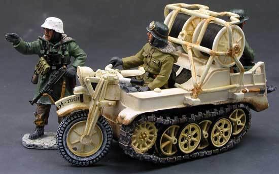 KING OCH LAND WWW2 TYSKA ARMY WS081 KETTENRAD MOTORCYCLE VINTER MIB