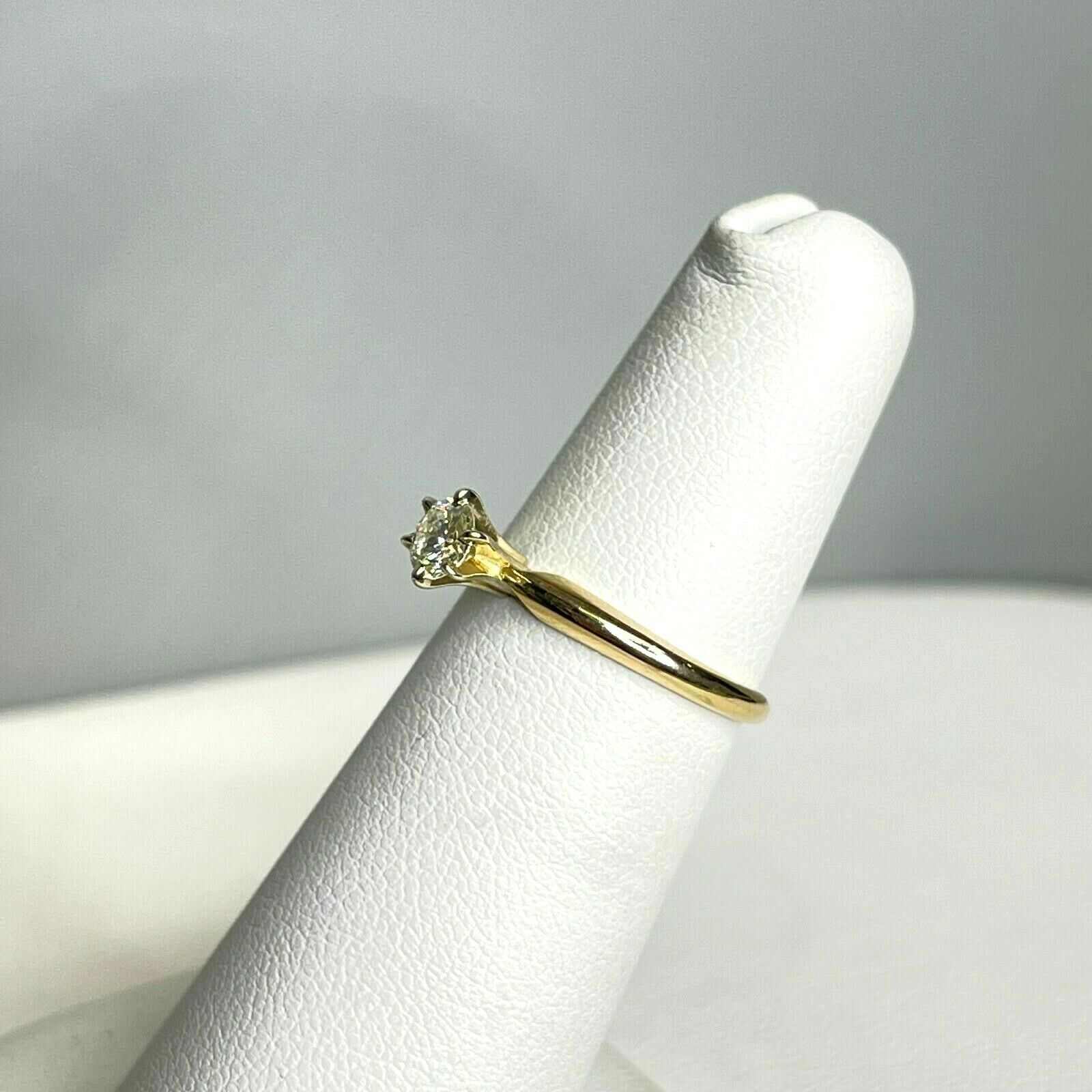 Vintage Signed DACO 14k Yellow Gold Diamond Solit… - image 4