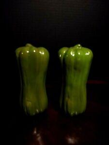 Vintage-Japanese-Green-Pepper-Vegatable-Salt-and-Pepper-Shakers