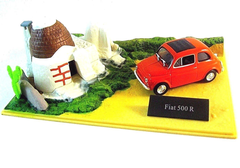 Fiat 500r Edicola 1 43 Diecast Diecast Diecast Collector's Modelo con diorama+showcase, Nuevo 678d29