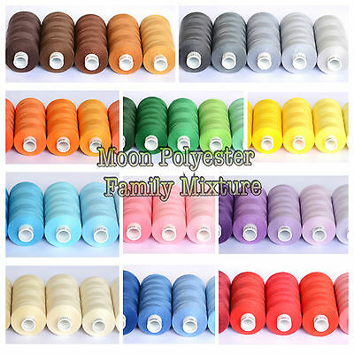 5 Moon Polyester Threads ( Family Mixture Colours Sets )