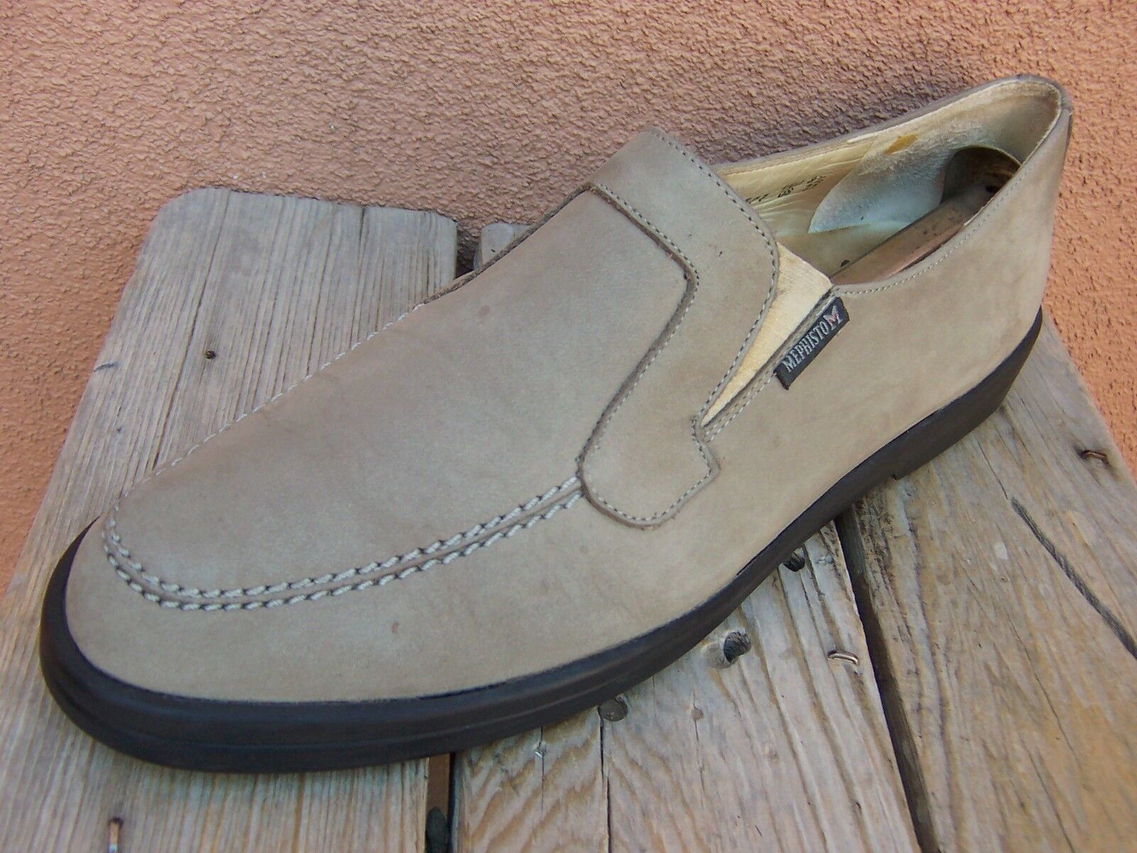 MEPHISTO Womens Classic Soft Tan Slip 11M On Loafer Casual Comfort Flats Sz Size 11M Slip 4749d4