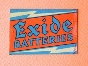 BASSETT-LOWKE-O-GAUGE-TINPLATE-MODEL-RAILWAY-ADVERTISING-SIGN-EXIDE-BATTERIES