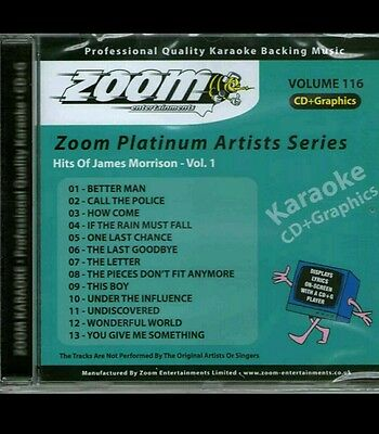 Musical Instruments & Gear Zoom Karaoke Platinum Artists Cdg Vol 116 Zpa116 Hits Of James Morrison Elegant In Style