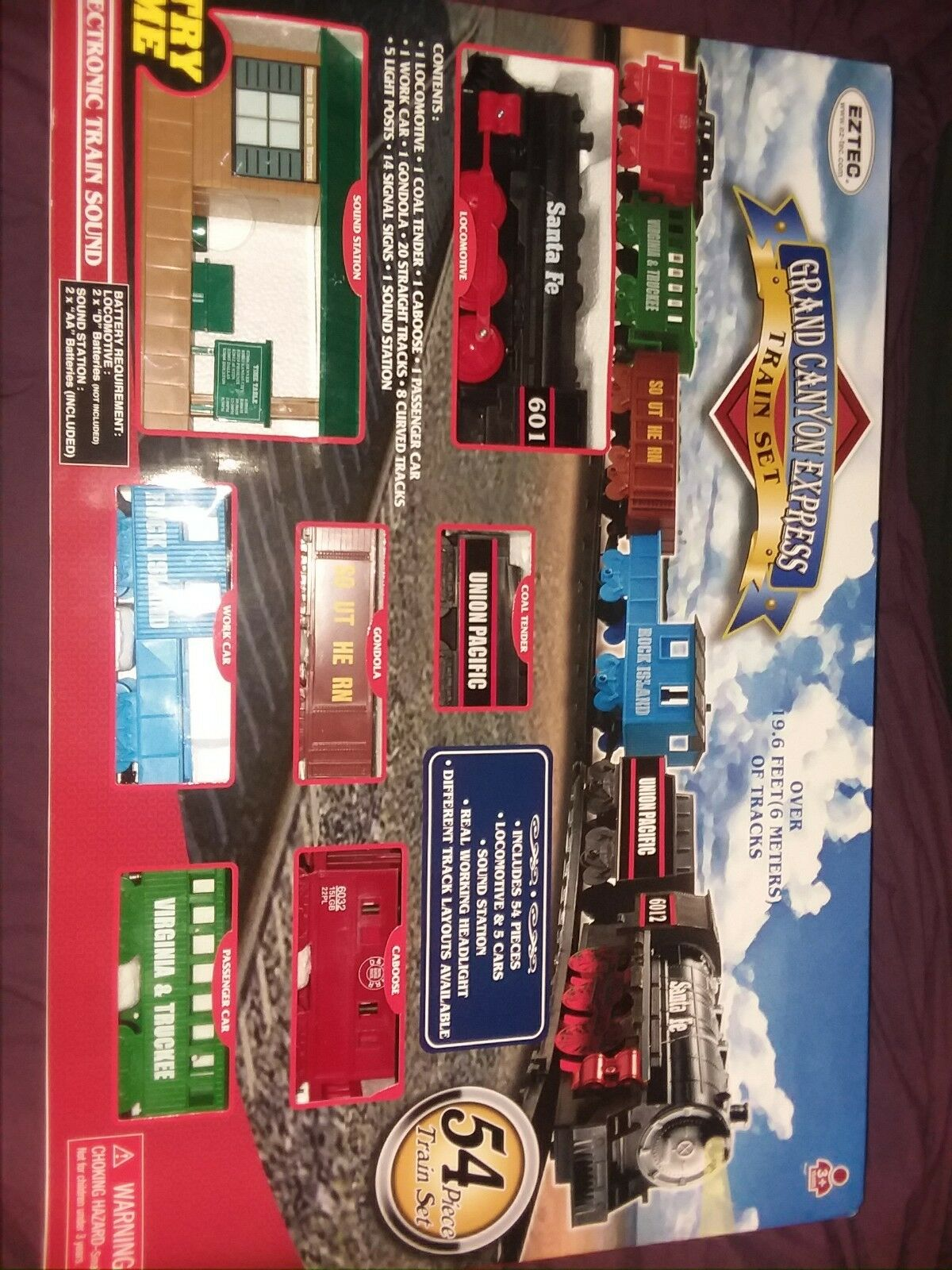 Eztec grand Canyon Express Train Conjunto de 54 piezas