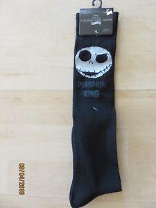 Jack Skellington Knee High Socks Halloween Nightmare Before Christmas 4-10 NEW