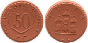 50 Pfennig 1927 Freiberg Coin Probeprägung Gipsform Mint State (44327)