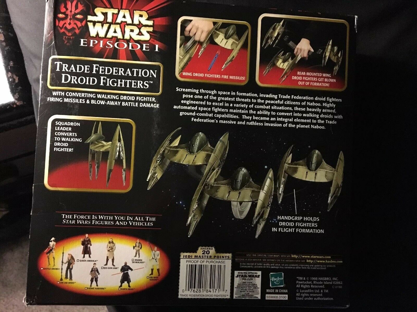 STAR STAR STAR WARS TRADE FEDERATION DROID FIGHTERS (3) 1998 MIB ecbc20