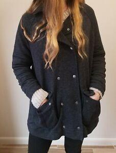 Jacket 'Dark og Grey' Varmt Knit Sz Gratis hyggeligt bomuldslinned Anorak People Soft M 8qxvI0Sx