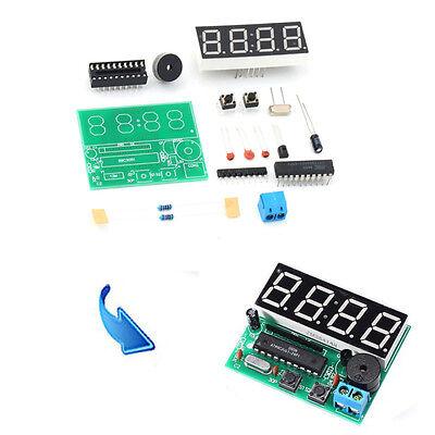Good New C51 4 Bits Digital LED Electronic Clock Production Suite DIY Kits Set