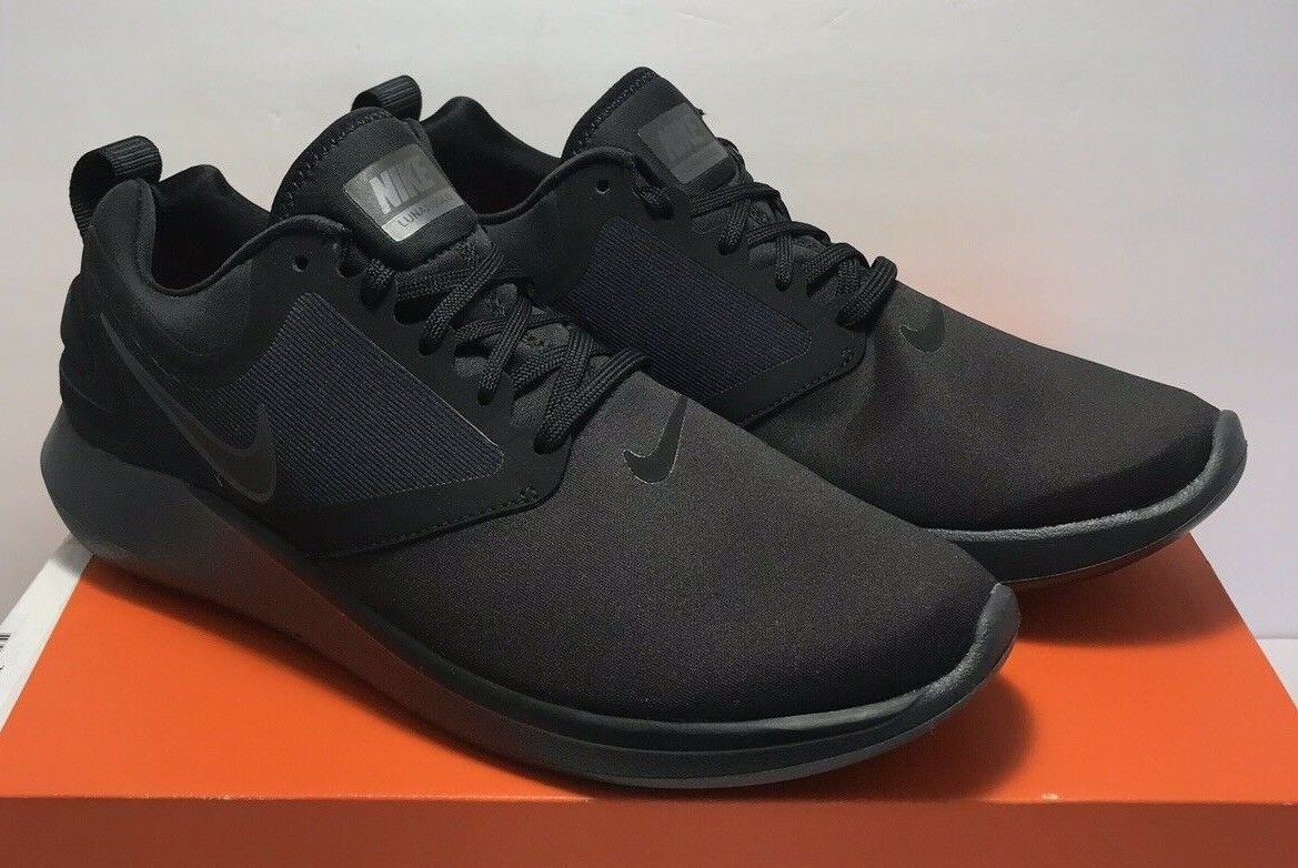 Nike Mens Mens Mens Size 9 LunarSolo Running shoes Black Anthracite AA4079 010 50bb9d
