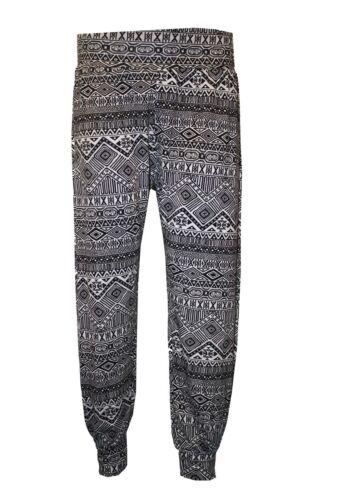 New Womens Printed Ali Baba Harem Trousers Pants Leggings Ladies Baggy Trouser