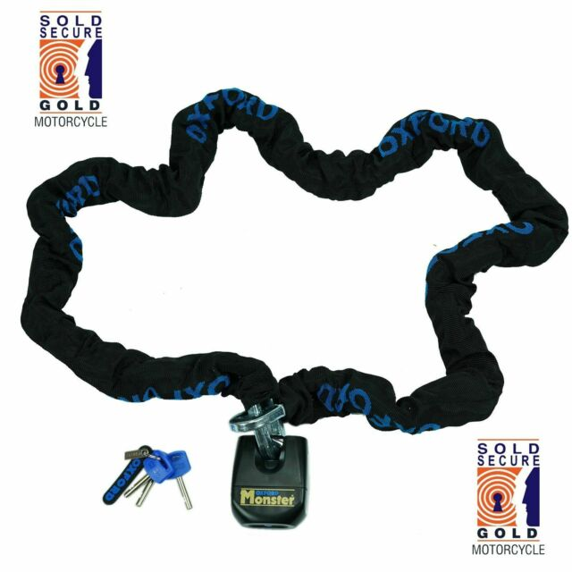 Oxford Monster 2m Chain and Padlock - Triumph Street Triple -Thatcham Approved