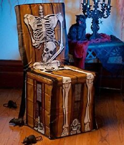 Outstanding Details About Spooky Scenes Chained Skeleton Chair Cover Halloween Haunted House Caraccident5 Cool Chair Designs And Ideas Caraccident5Info