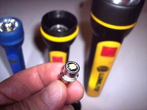 Bright! LED 1W Upgrade Bulb for 3.6V or 3-Cell Flashlights Alk Nicad Versapak