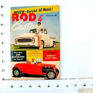 Rod-amp-Custom-Magazine-January-1960-Bonneville-Rat-Rod-Roadster-Kart-Hot-Rod-M46