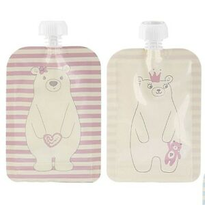 4x Rosa Ovp ✅ Quetschbeutel Quetschflasche Wiederverwendbar ✅ Spülmaschine ??? ??? Verbraucher Zuerst