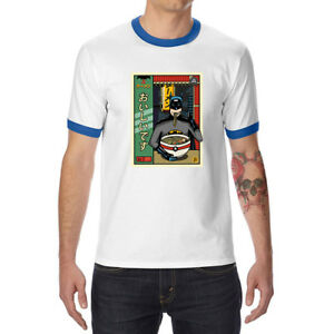 And-Ramen-Men-039-s-Ringer-T-shirts-Funny-Cotton-Raglan-Short-Sleeve-Tops-summer-Tee