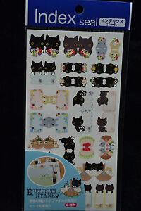 San-X-Kutusita-Nyanko-Cat-Notebook-Memo-Index-Stickers-SE99203