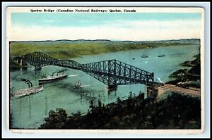 CANADA-Postcard-Quebec-Bridge-Canadian-National-Railways-G3