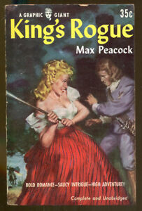 King-039-s-Rogue-by-Max-Peacock-Vintage-Graphic-Giant-Paperback-1954