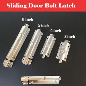 Heavy-Duty-Solid-Zinc-Alloy-Sliding-Door-Bolt-Dead-Lock-Slide-Gate-Catch-3-6inch