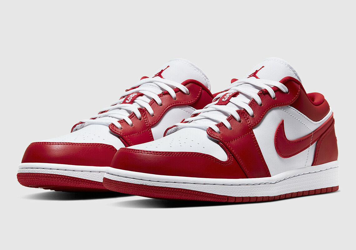 Out Nike Air Jordan 1 Low White Gym Red Black Size 10 5 Limited
