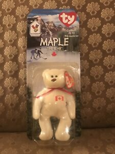 4c2a56de6c2 McDonalds Maple The Bear Canadian RARE Retired Ty Beanie Baby W  Tag ...